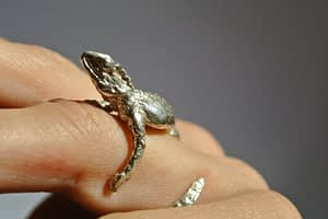 water dragon ring, Liplivive made in solid sterling silver by quirine van nispen