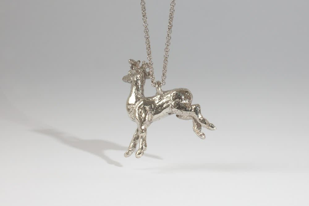 silver deer . Liplivivé, sculptural jewellery, pieces of art made to wear and love over a lifetime