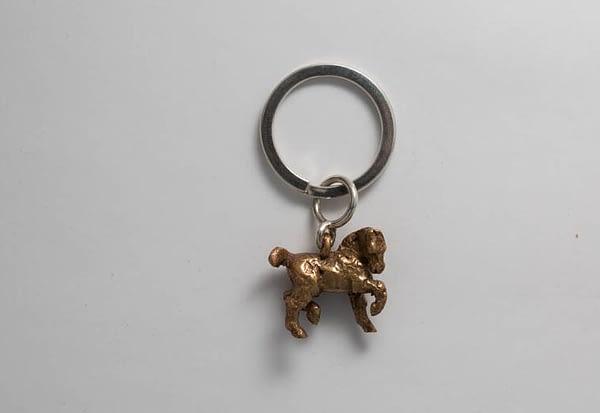 horse keyring bronze