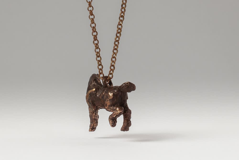 tarnished bronze horse . Liplivivé, sculptural jewellery, pieces of art made to wear and love over a lifetime